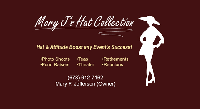 Marys Hat Collection-Business Card